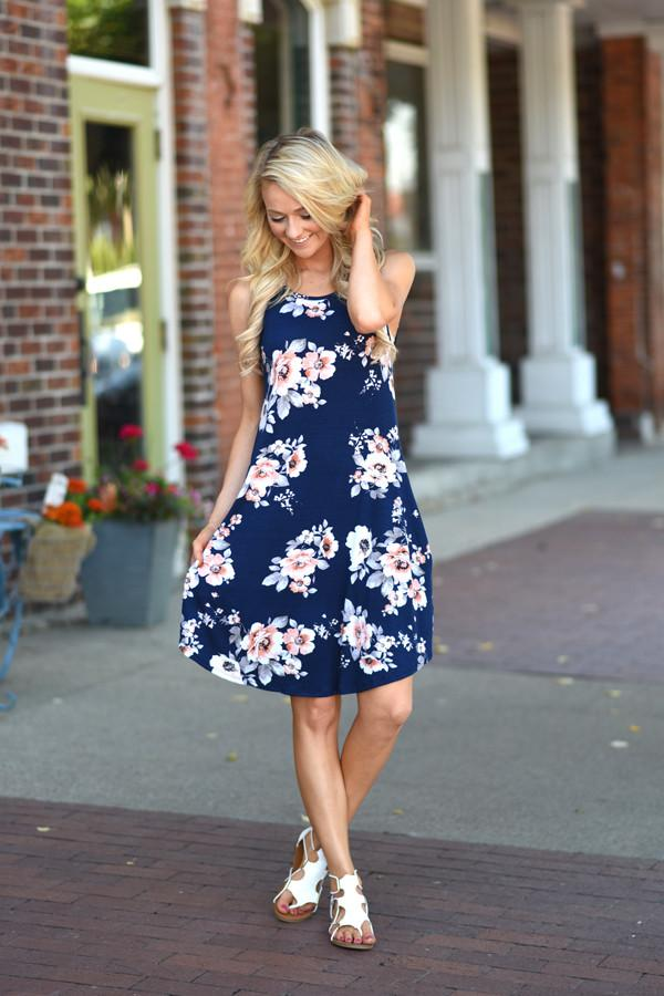 Back at the BBQ Dress ~ Navy
