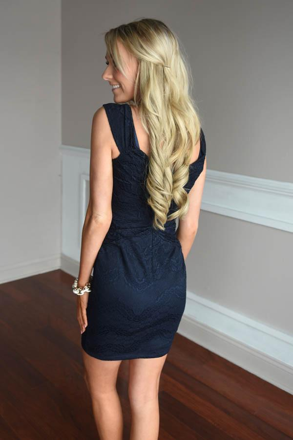 Accidentally in Love Dress ~ Navy