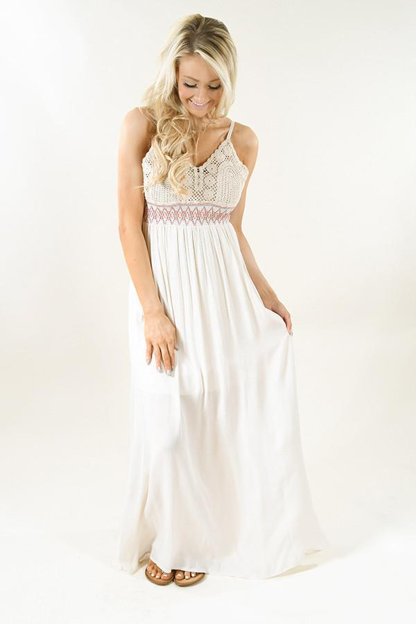 3547b47f068 Cream Crochet Maxi Dress – The Pulse Boutique