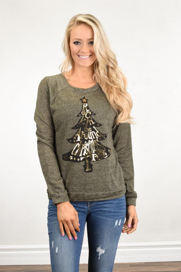 Rocking Around the Christmas Tree Top ~ Olive