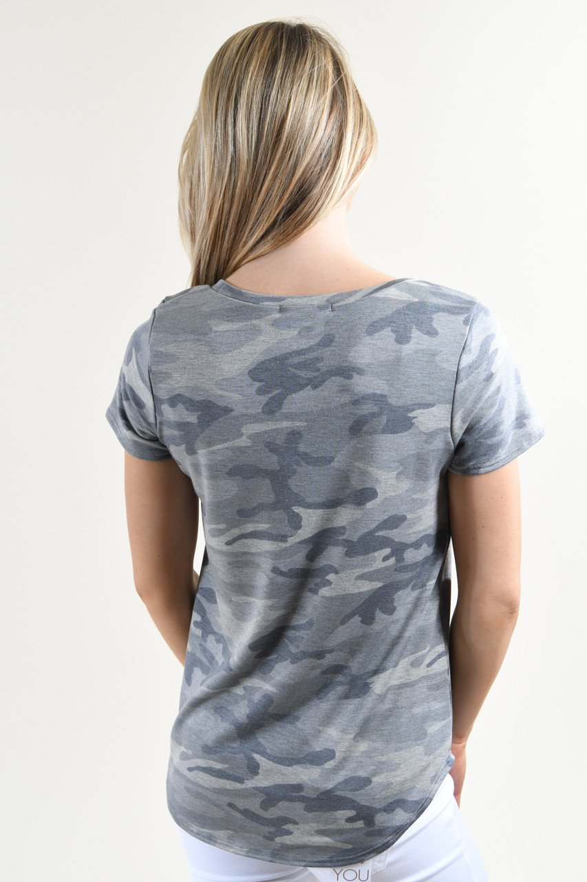 Short Sleeve Camo Top
