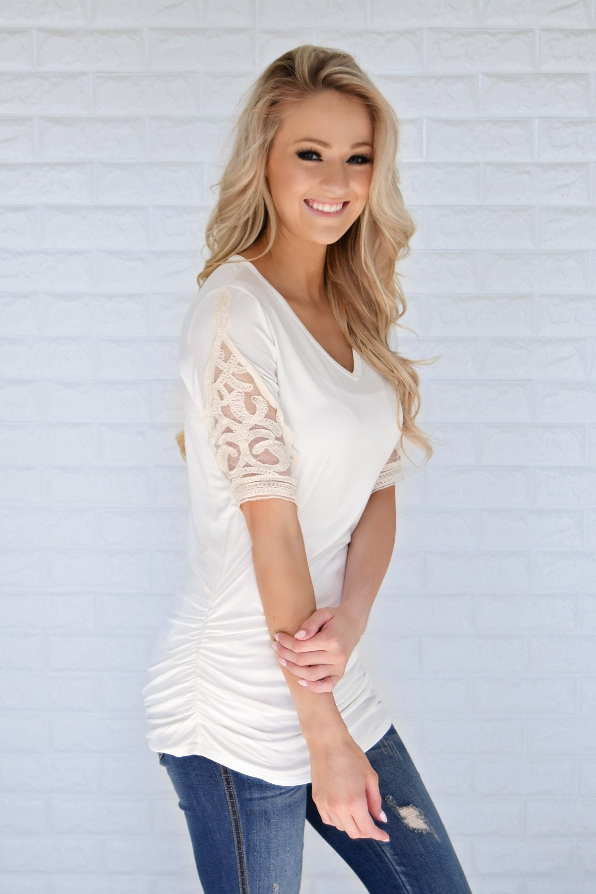 Shear Glamour Top ~ White