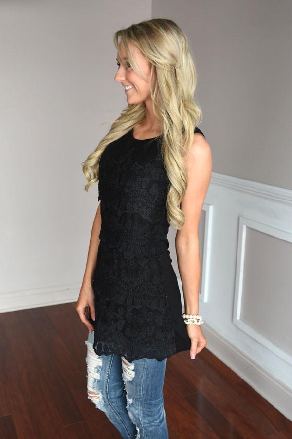 Feeling Fancy Lace Tank
