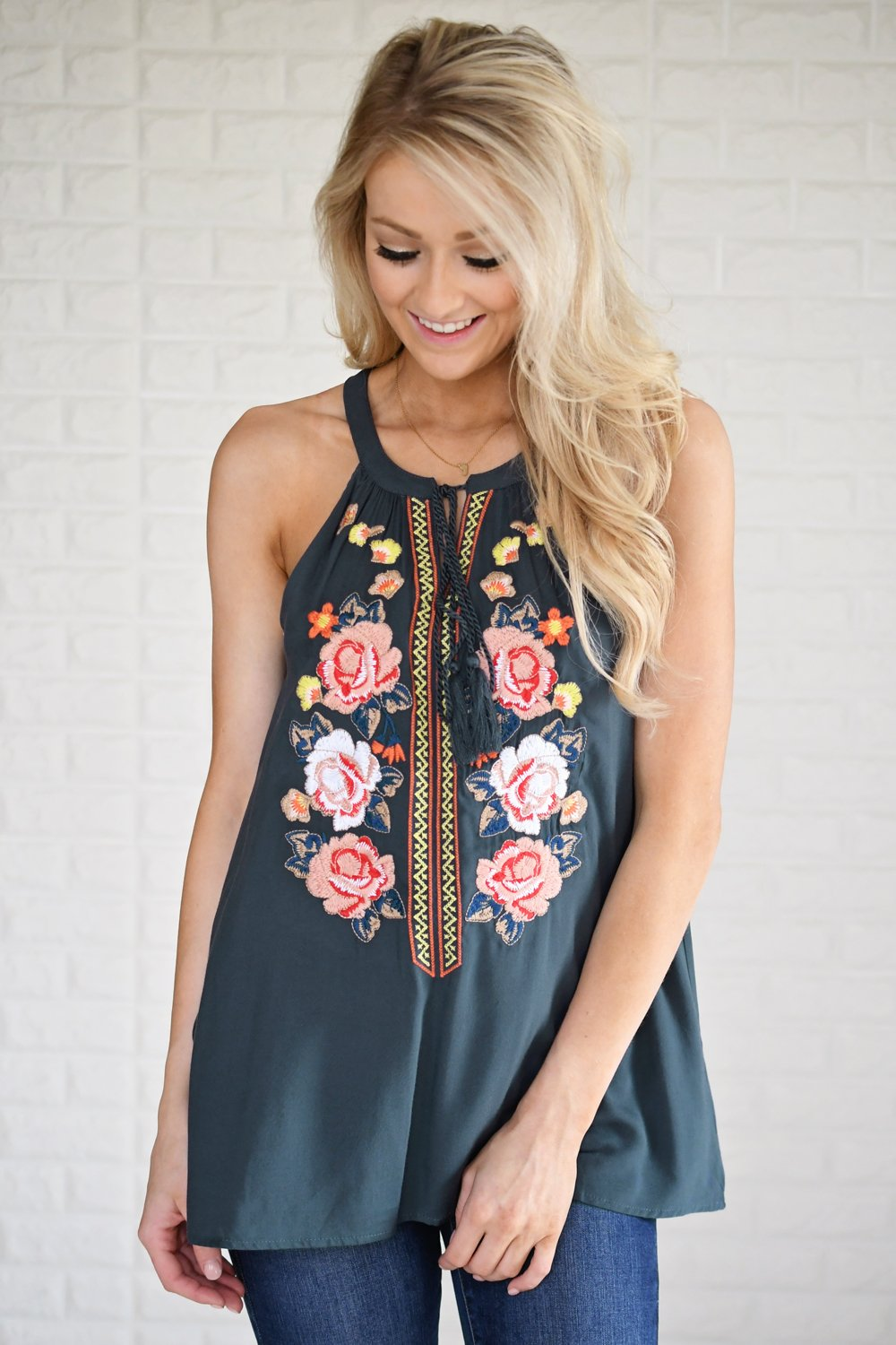 Floral My Heart Tank Top