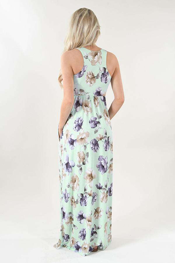 Refreshing Summer Maxi Dress ~ Mint