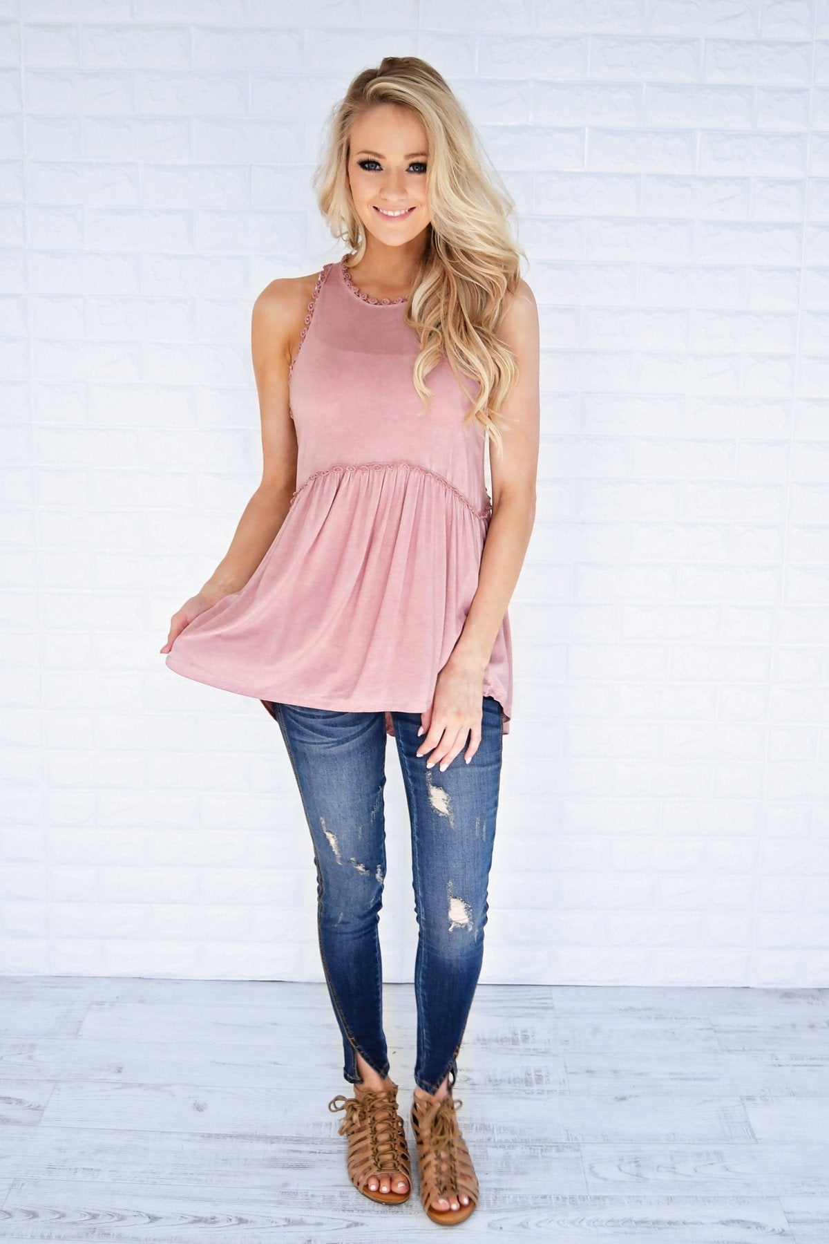 Soft Mauve Tank Top