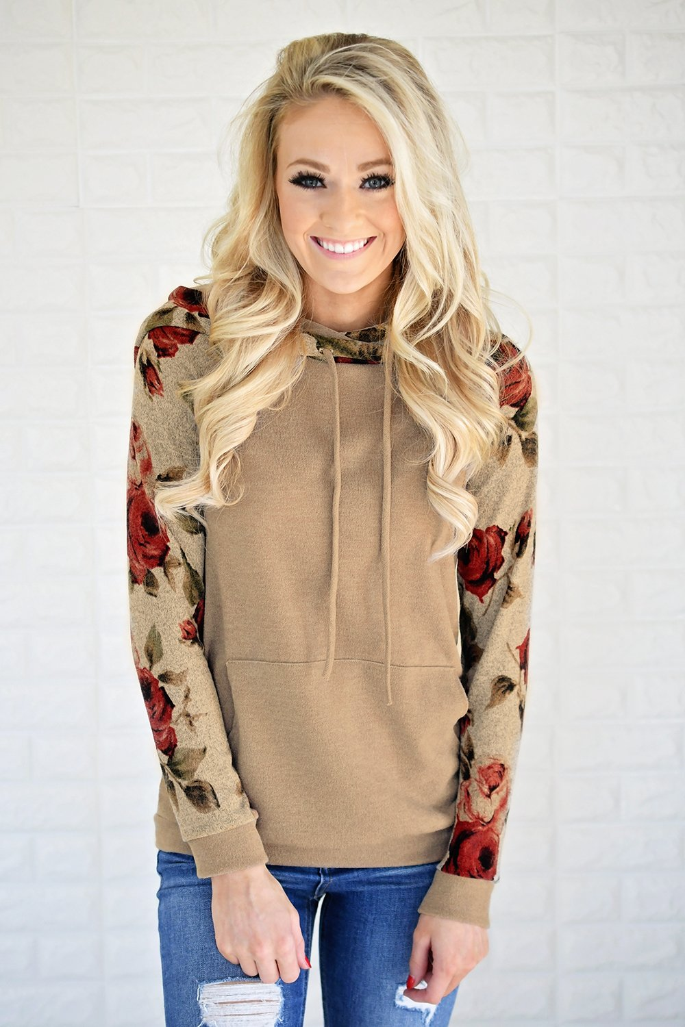 Happy Together Floral  Hoodie