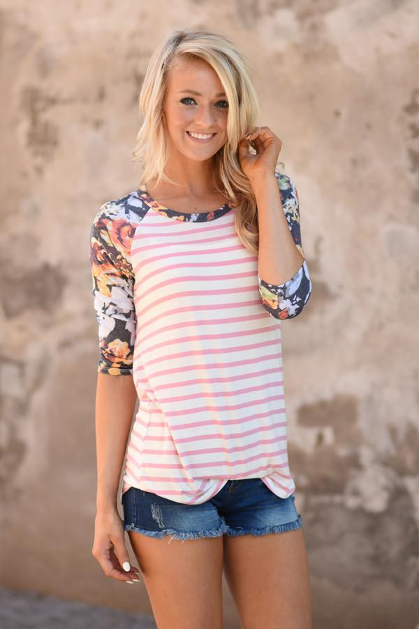 Never a Dull Moment Floral Top ~ Pink