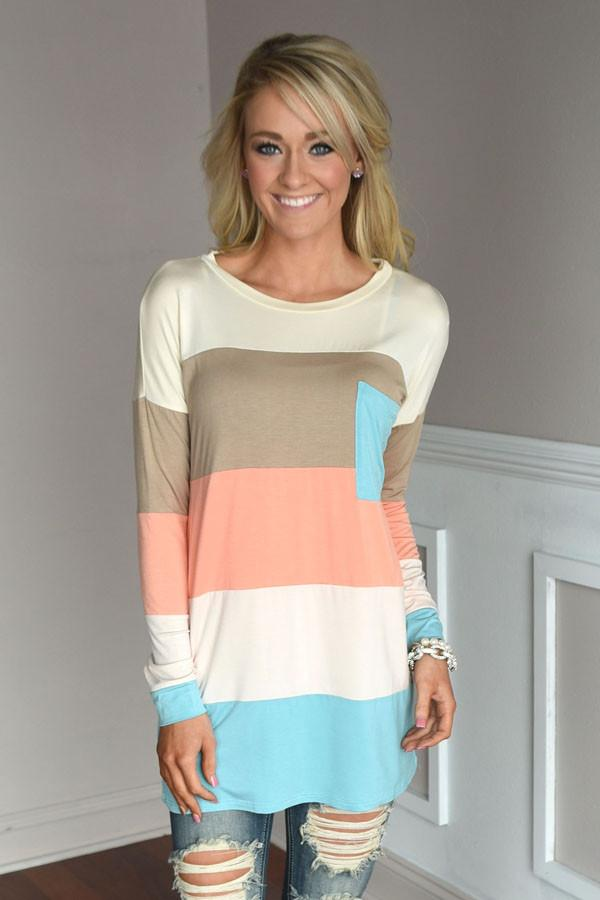 Spring Color Block Top