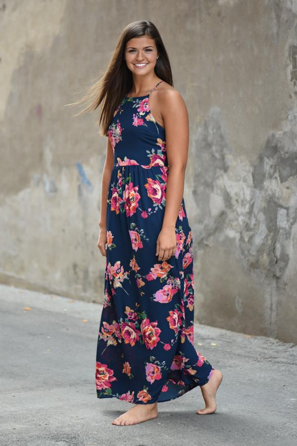 Everly Maxi ~ Feeling Magical Navy Maxi Dress