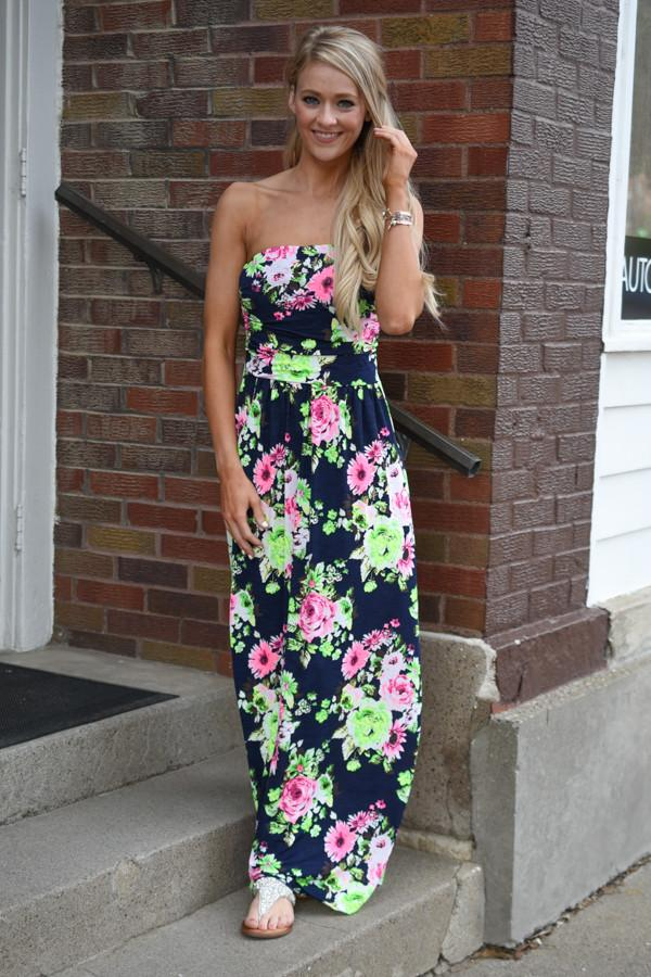 Once in a Blue Moon Maxi ~ Navy-Lime