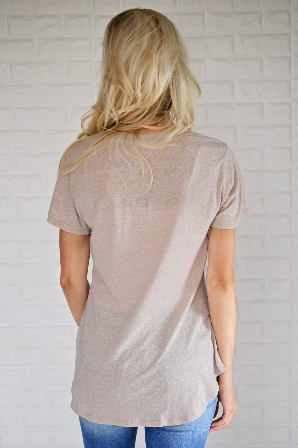 Basic Oatmeal Pocket Tee