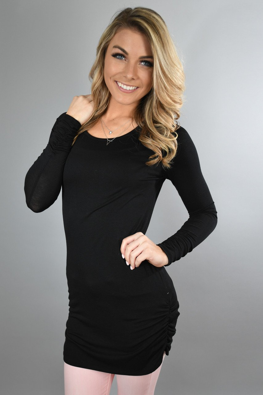 Black Basic Layering Top