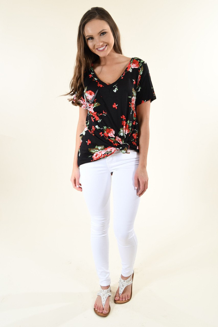 Night to Remember Floral Top