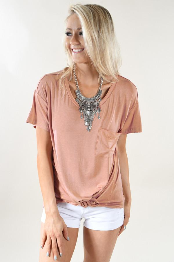 Apricot Pocket Top