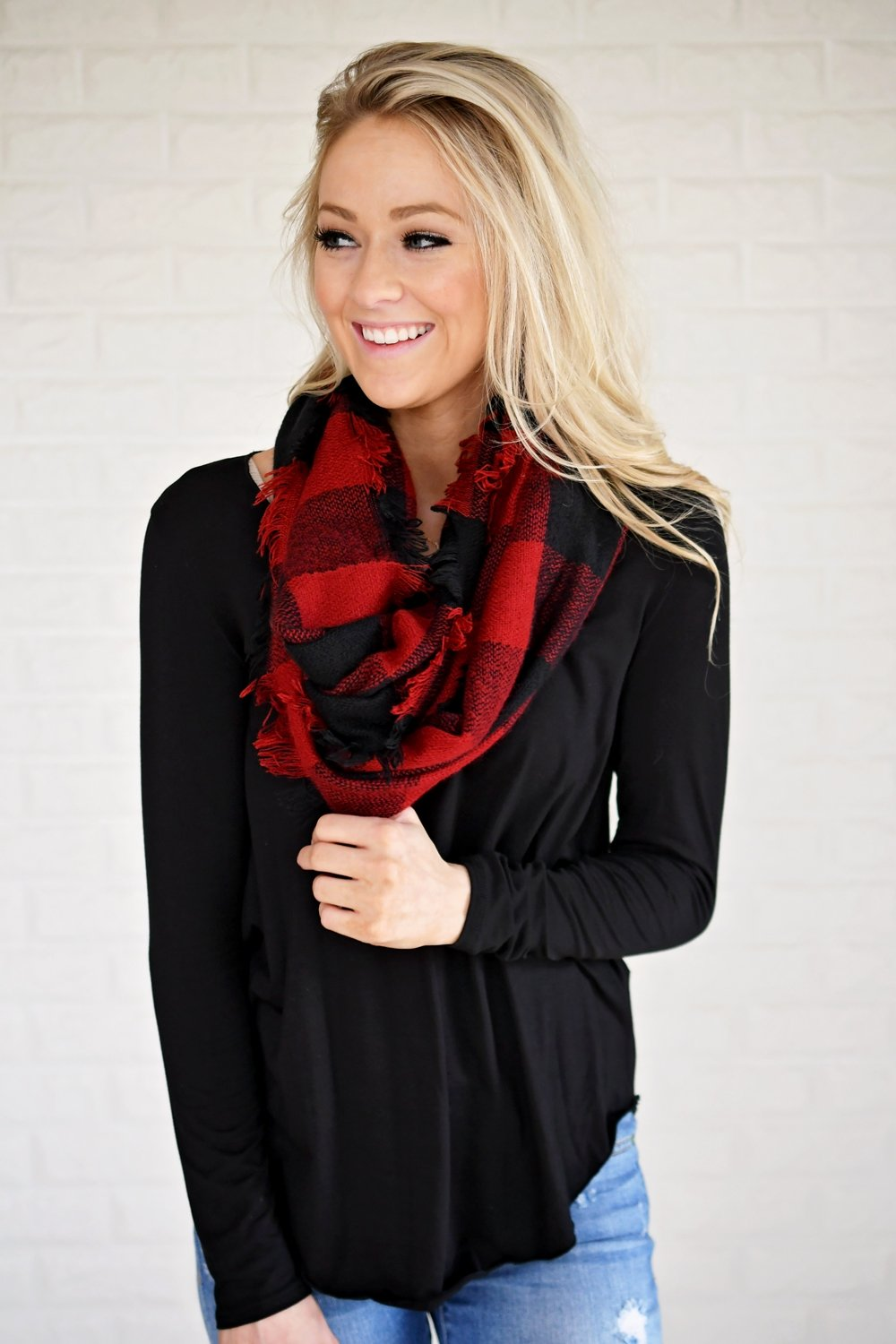Long Sleeve V-Neck Top ~ Black