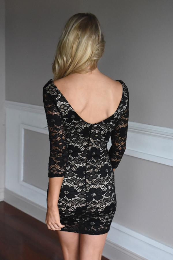Take Me Out Dress ~ Black