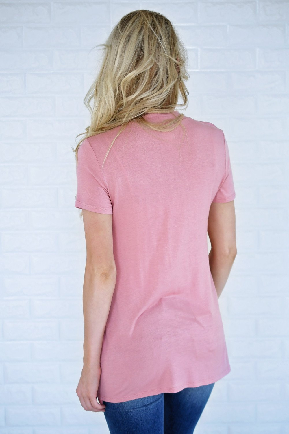 Blush Mock Neck Top