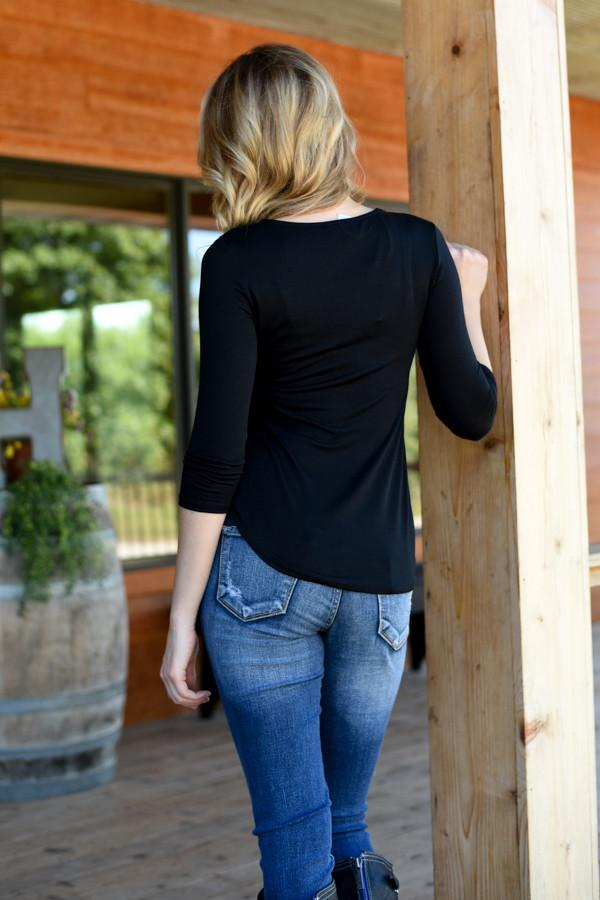 Embrace the Unexpected Top ~ Black