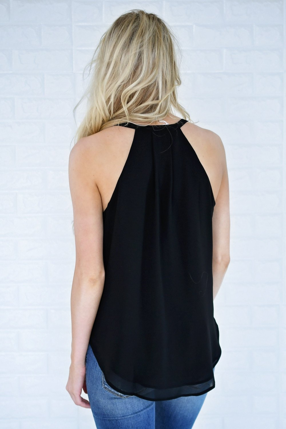 Lucky Black Tank Top
