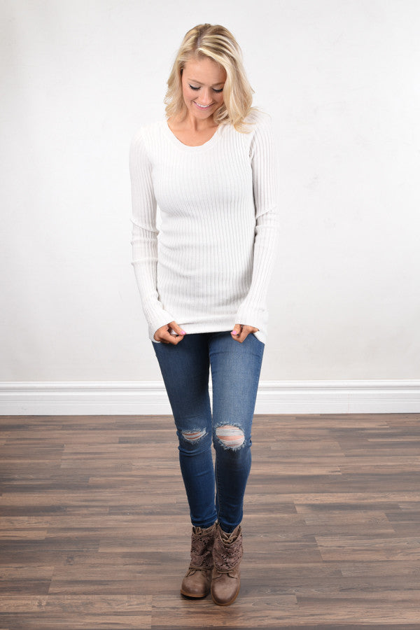 Essential Ivory Knit Top