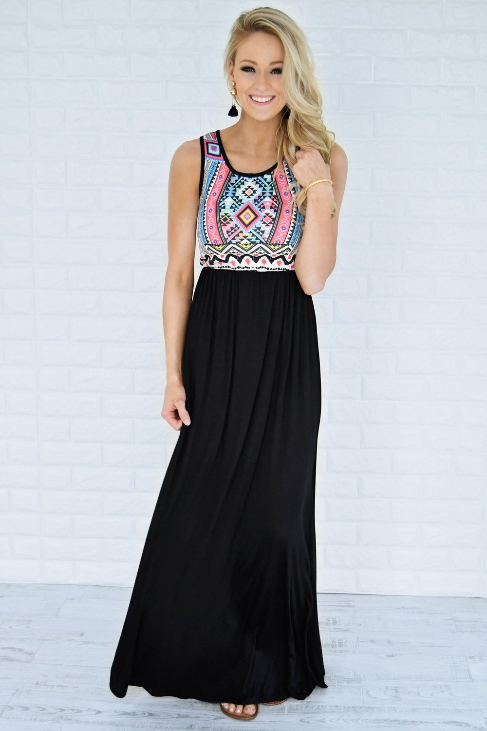 Feathers of Color Maxi Dress