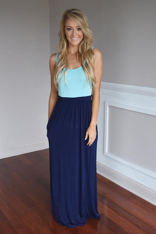Whisper in the Wind Maxi ~ Navy
