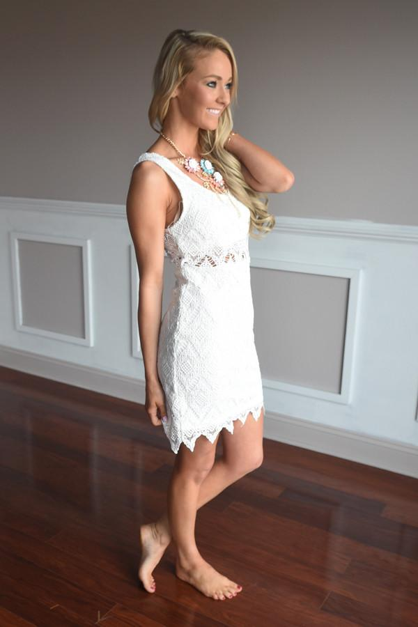 Hidden Garden Dress ~ White