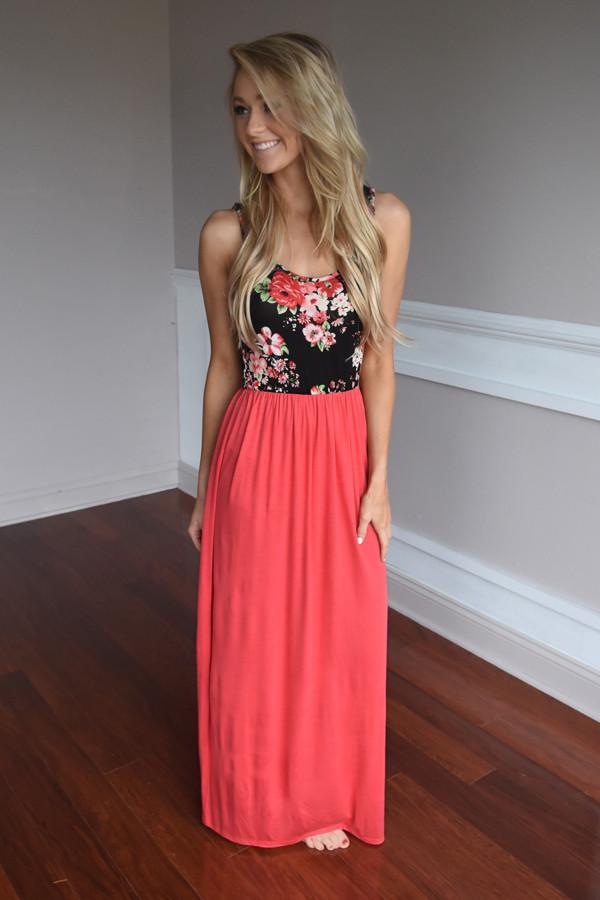 91baeae361 On Your Way Maxi ~ Coral – The Pulse Boutique