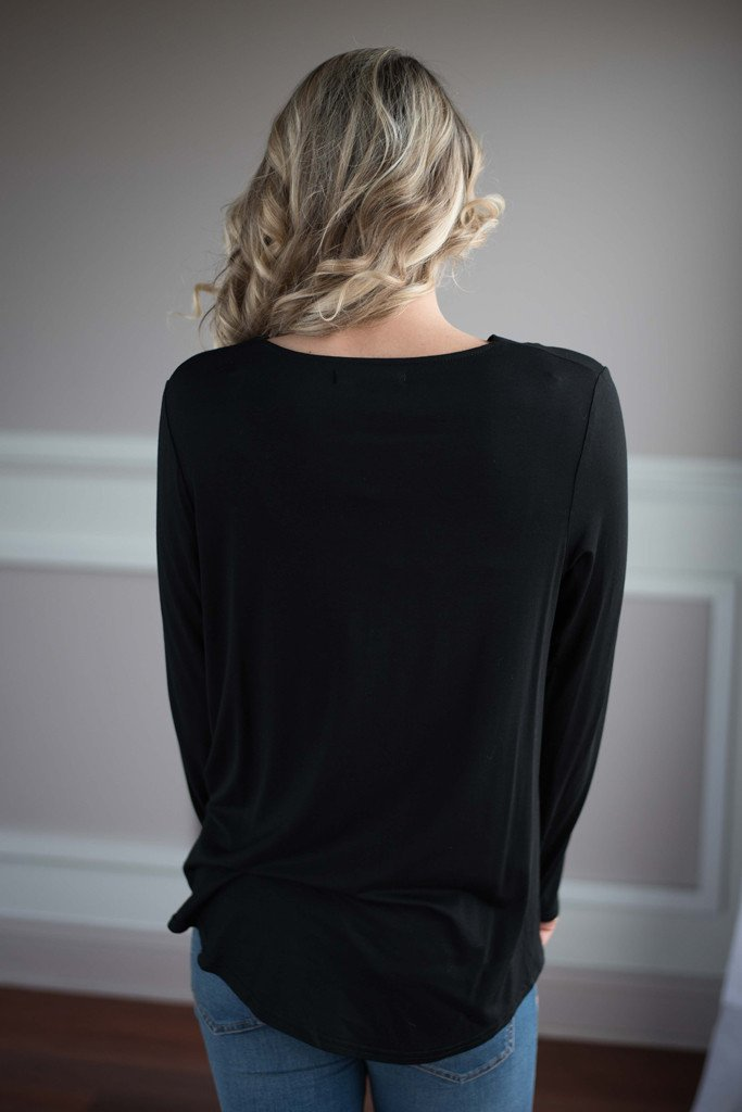 With You On My Mind Top ~ Black