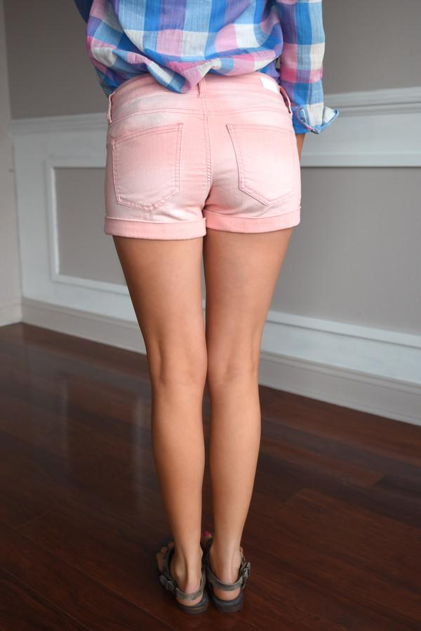 Dusty Pink Distressed Shorts
