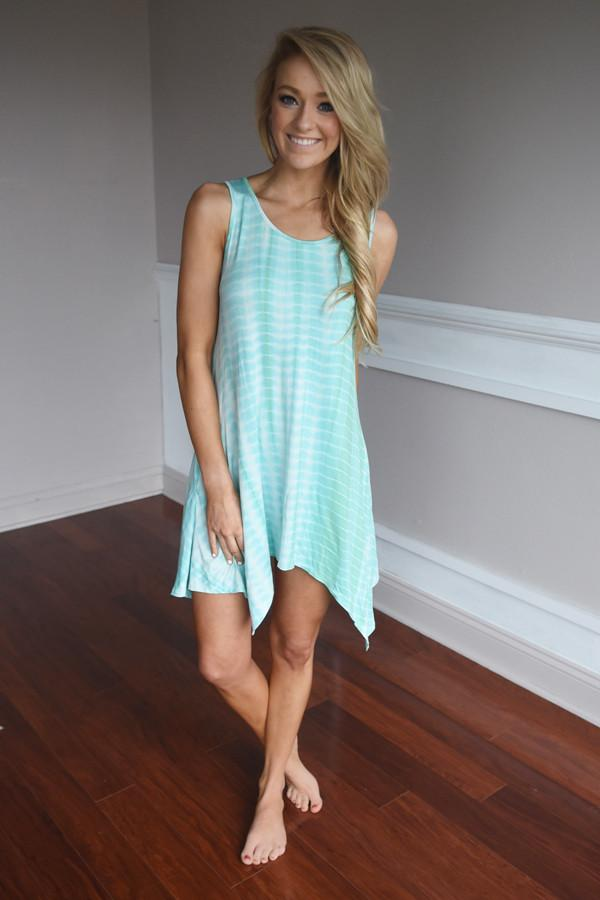 Tie Dye For Dress ~ Mint