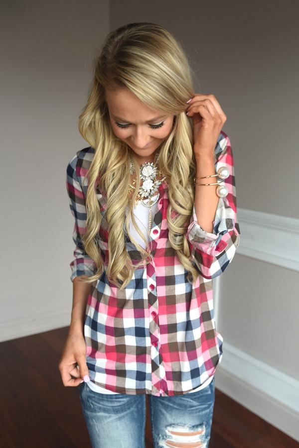 Pink & Brown Flannel