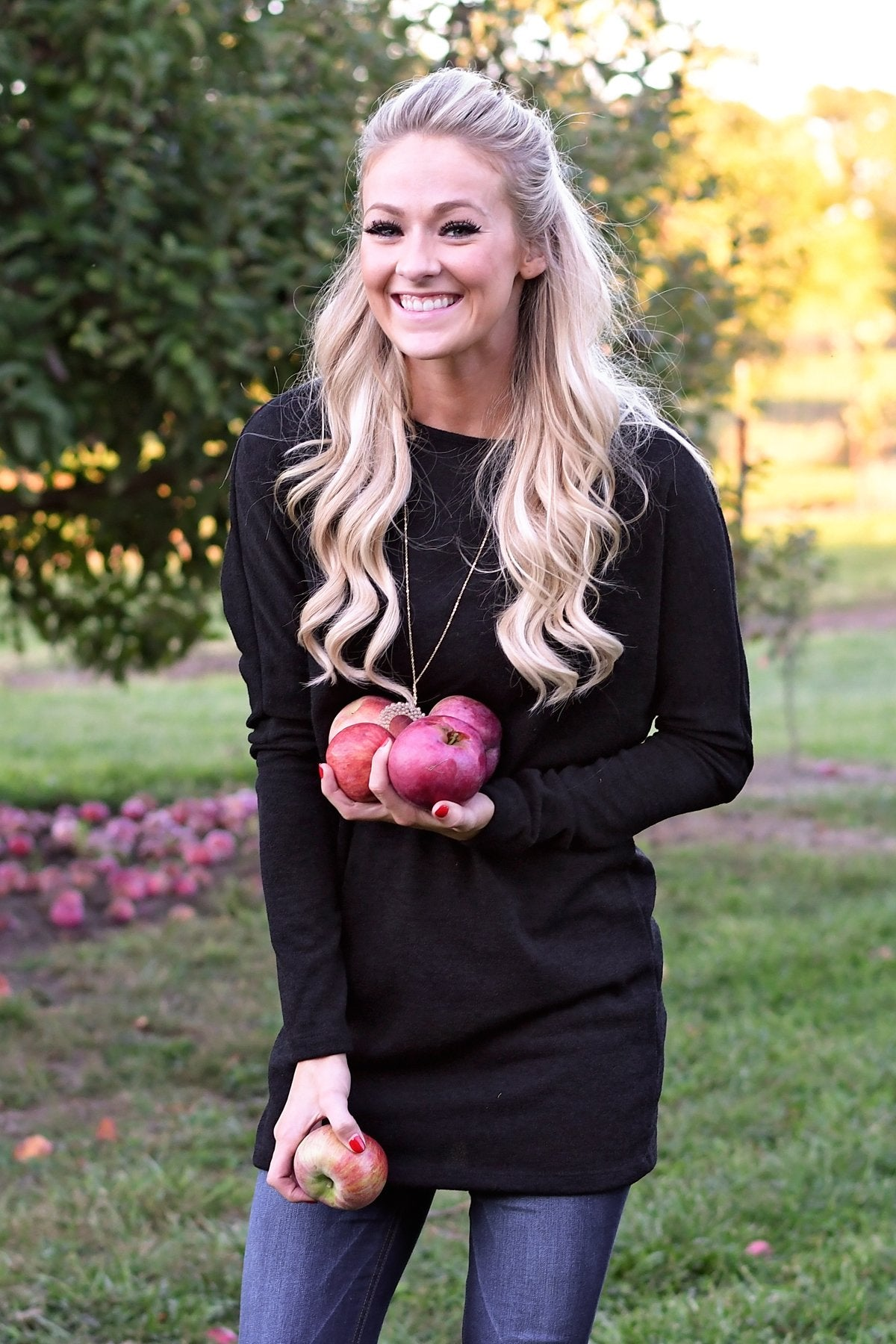 Fall Feels Black Tunic Top