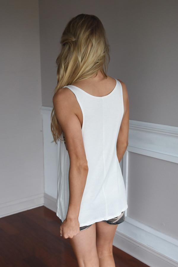 Beach Mode Tank ~ White