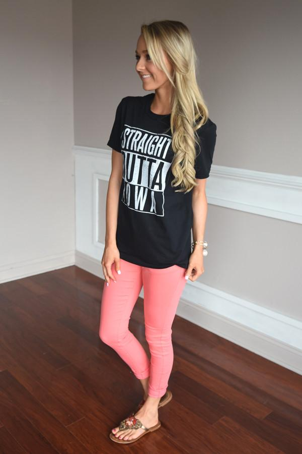 Straight Outta Iowa Tee
