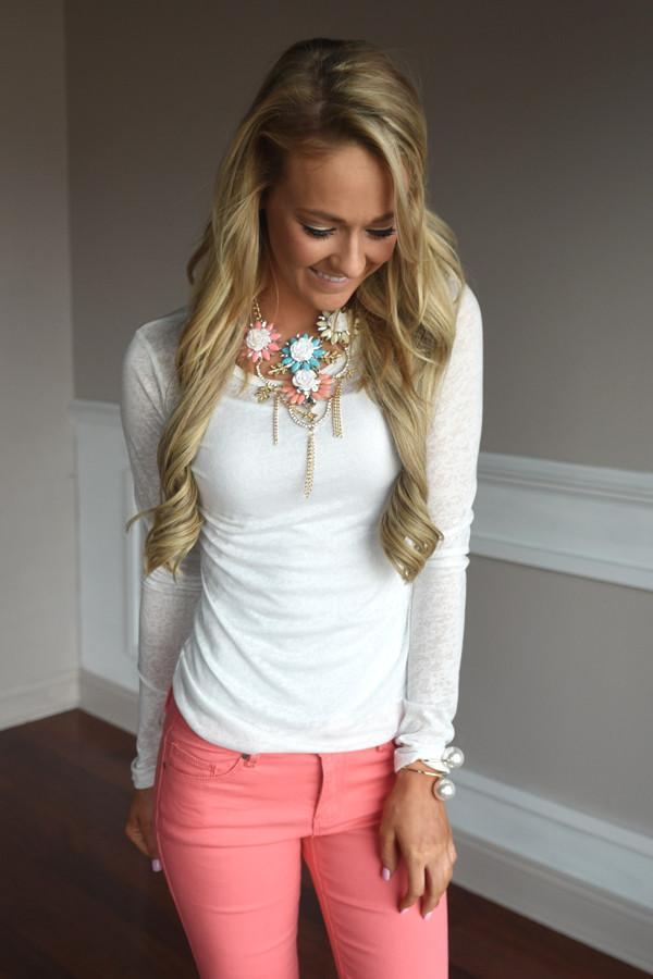 Open Mind Top ~ Ivory