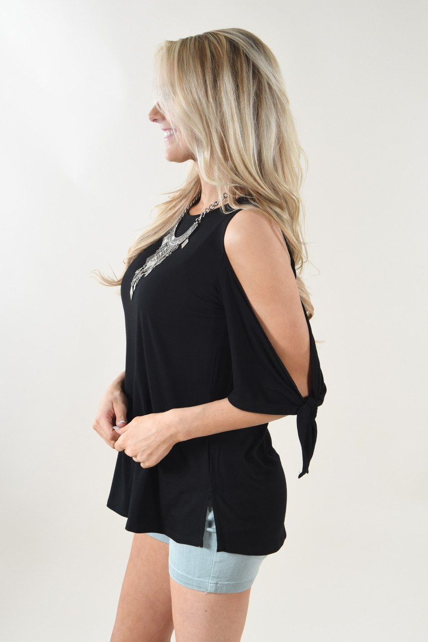 Just My Type Cold Shoulder Top