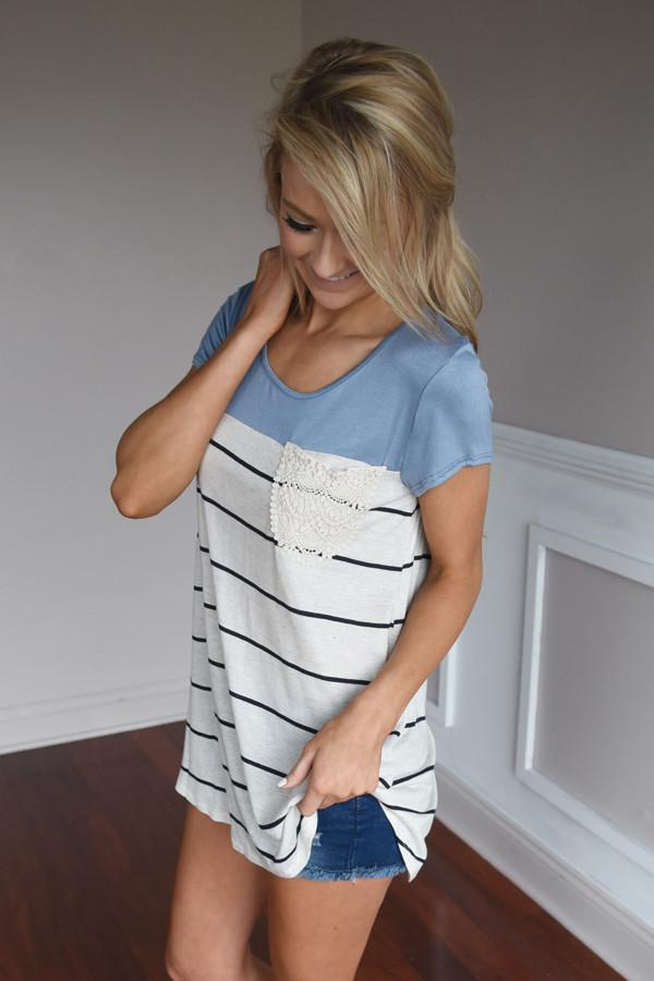Soft and Sweet Top ~ Blue