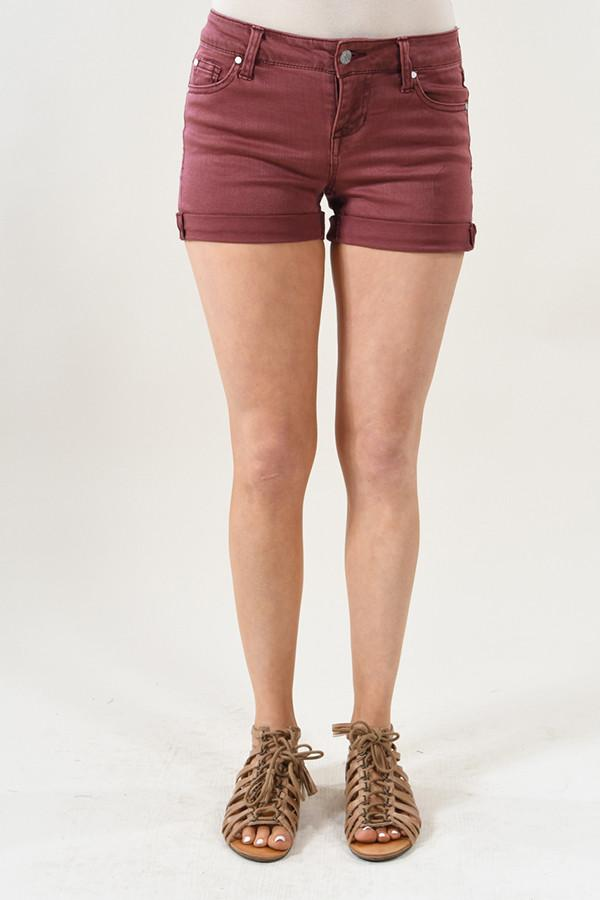 Calypso Shorts ~ Burnt Maroon