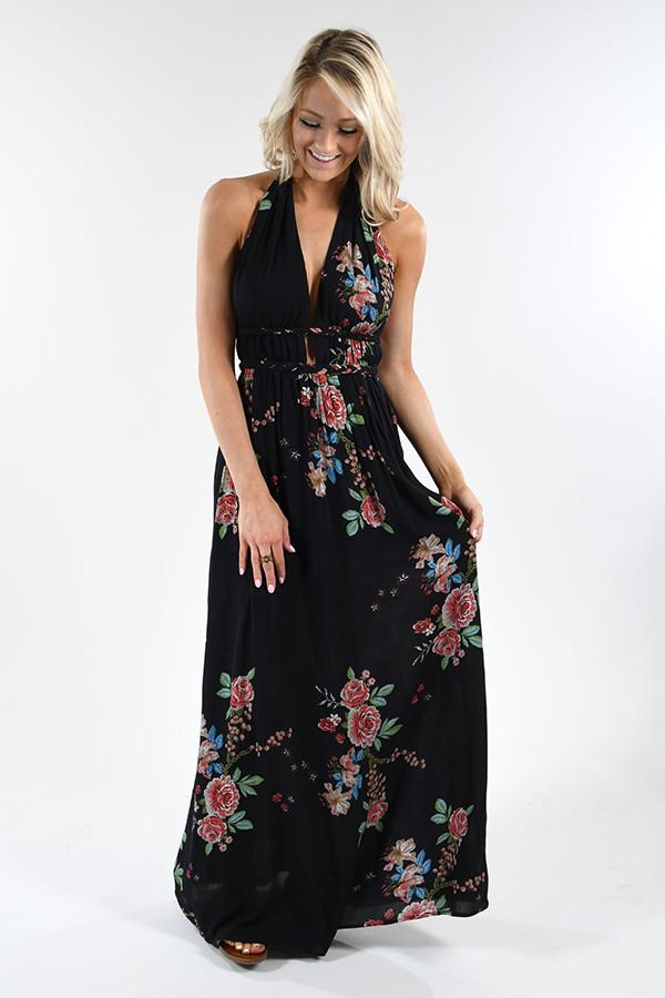 Magic Moments Maxi Dress - Black