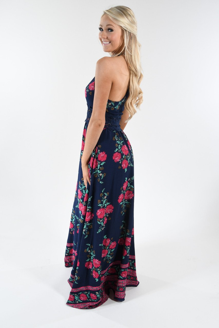 Out of the Blue Floral Maxi Dress