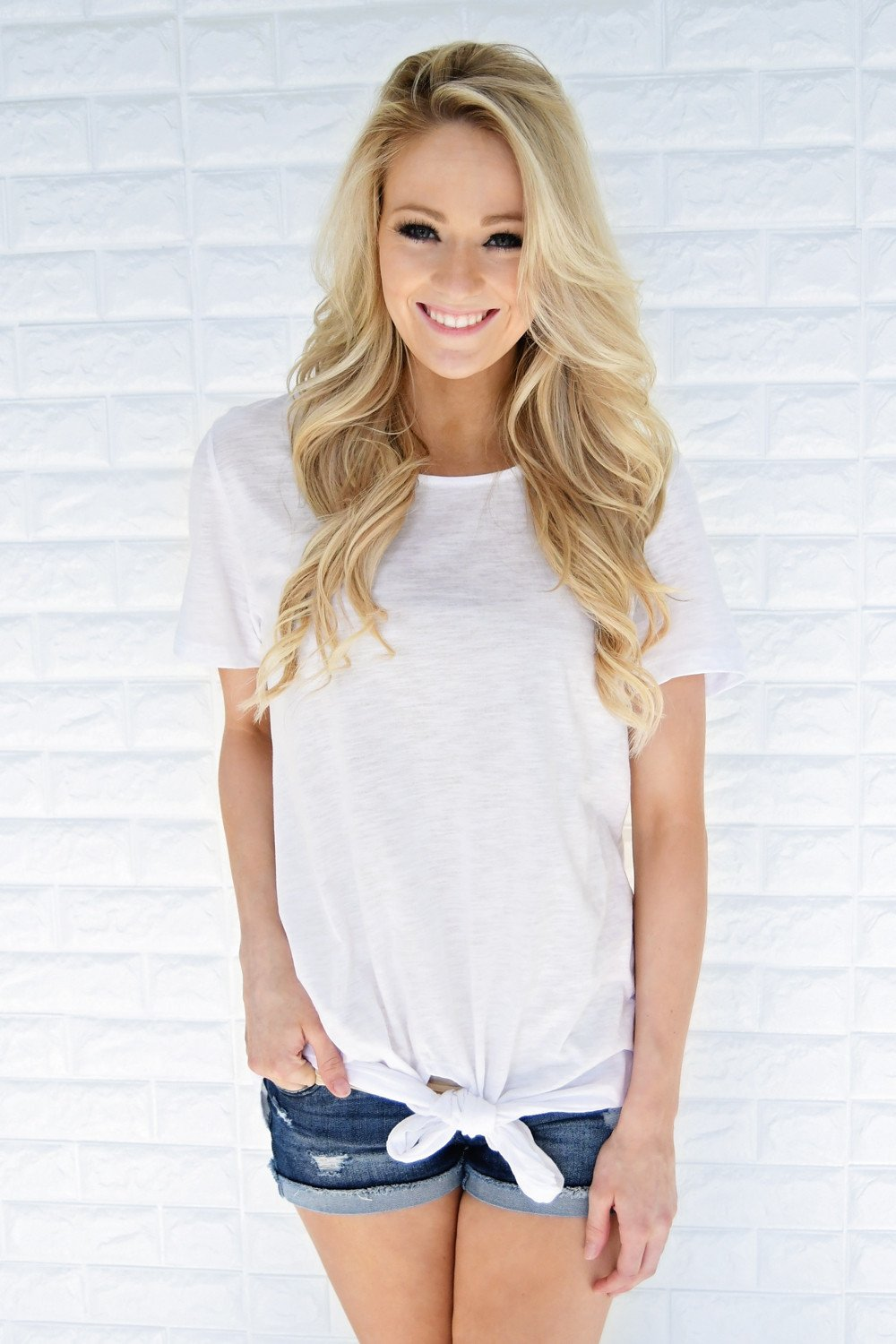 Knot Over You Top ~ White