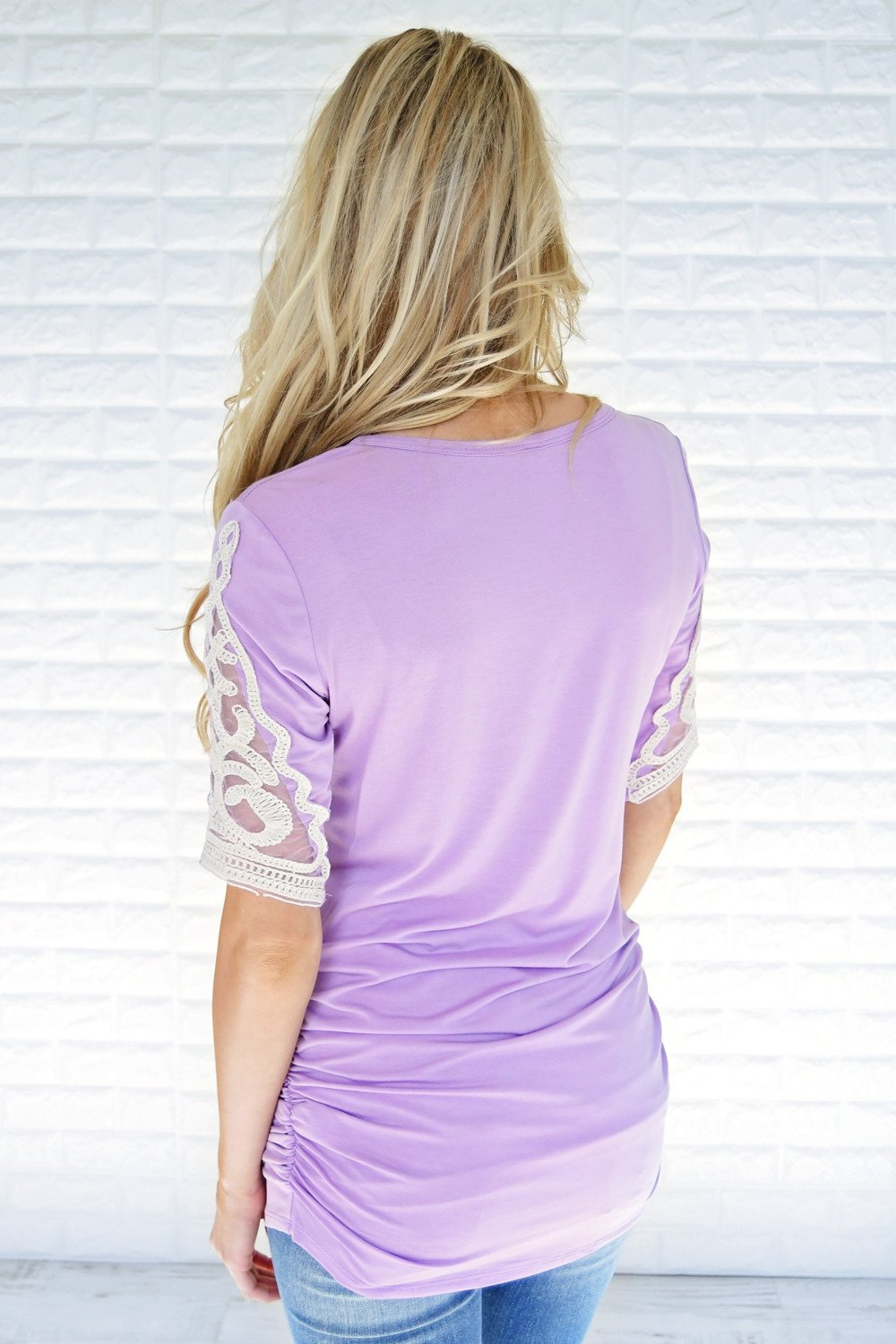 Shear Glamour Top ~ Light Purple