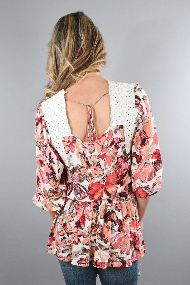 Take Me to the Tropics Floral Top