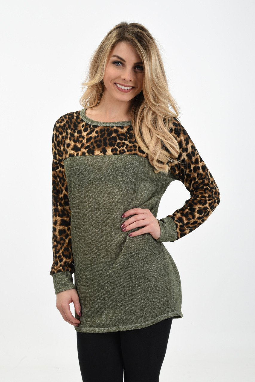 Wild Side Top ~ Olive