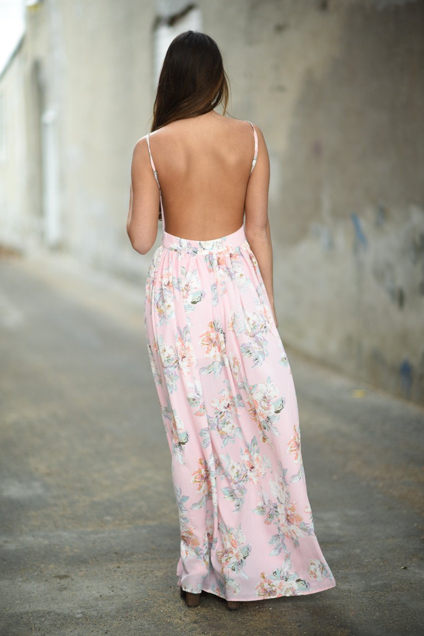 Feeling Pink ~ Floral Maxi Dress