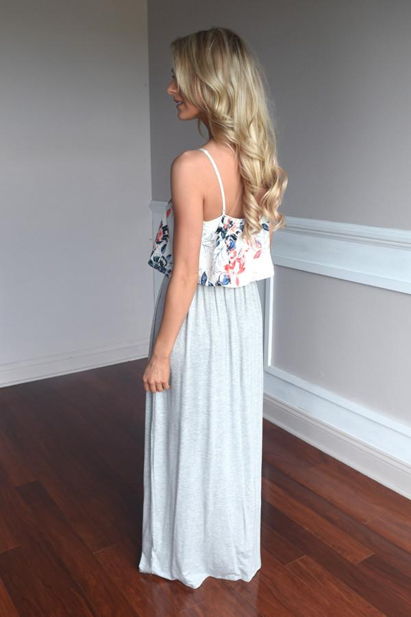 Graceful in Grey Maxi