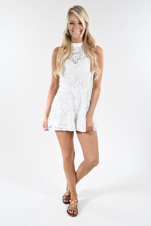 Dreamscapes White Romper
