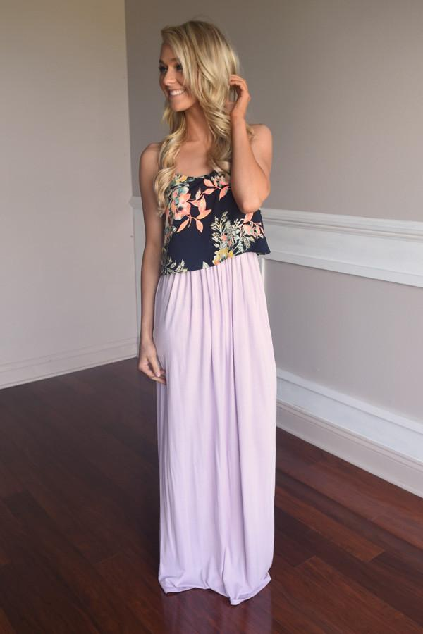 Graceful in Purple Maxi